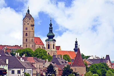 The Town Of Krems Along The Danube Print by Miva Stock