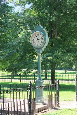 The Town's Clock Print by Brenda Donko