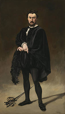 Character Portraits Painting - The Tragedian Actor Rouviere As Hamlet by Edouard Manet