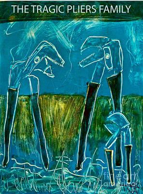 The Tragic Pliers Family Print by Avi Zamir