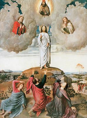 Transfiguration Painting - The Transfiguration by Gerard David