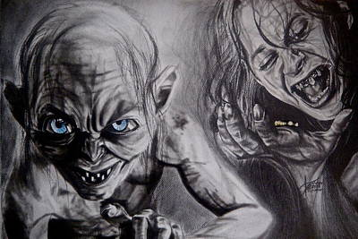 Dark Evil Scary Drawing - The Transformation by Ann Supan