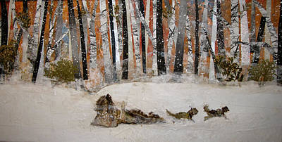 Snowed Trees Mixed Media - The Trapper by Barbara Kinnick