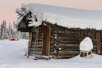 Log Cabin Photograph - The Trappers Cabin by Tim Grams