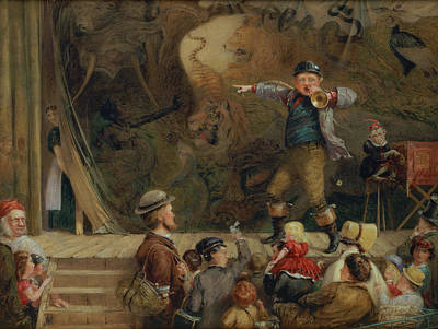 Monkeys Drawing - The Travelling Menagerie, 1872 by Frederick Piercy
