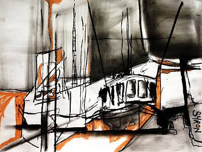 The Trawlers Print by Helen Syron