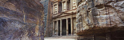 The Treasury Through The Rocks, Wadi Print by Panoramic Images