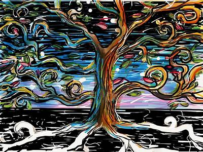 Garden Of Eden Painting - The Tree Of Life by Devin Hermanson