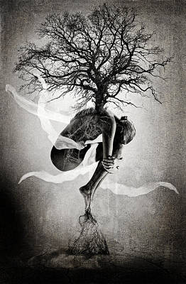 Grunge Photograph - The Tree Of Life by Erik Brede