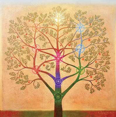 Chakras Painting - The Tree Of Life by Richard  Quinn