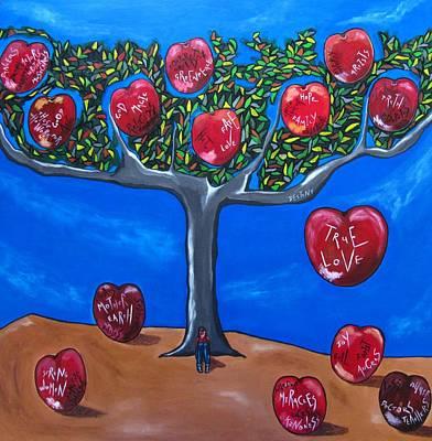 The Tree Of Life Original by Sandra Marie Adams