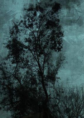 Petrol Green Digital Art - The Tree by Sarah Vernon