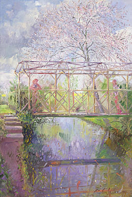 Summery Painting - The Trellis Crossing by Timothy Easton