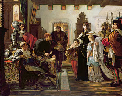 Scribes Photograph - The Trial Of Ilona Zrinyi, 1859 by Viktor Madarasz