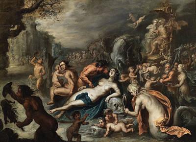 Amphitrite Painting - The Triumph Of Amphitrite by Simon de Vos