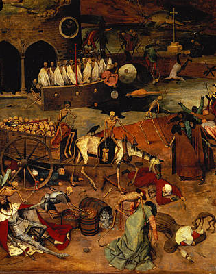 Horse And Cart Painting - The Triumph Of Death by Pieter the Elder Bruegel