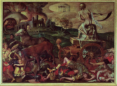 Monster Photograph - The Triumph Of Death Oil On Canvas by Antoine Caron