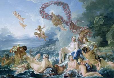 Fertility Painting - The Triumph Of Venus by Francois Boucher