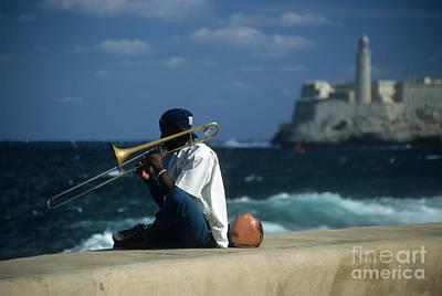 Trombone Photograph - The Trombonist by James Brunker