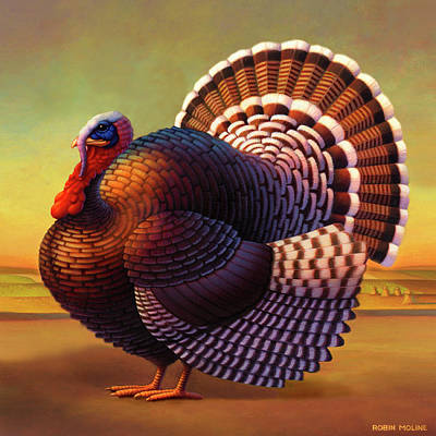 Rural Scenes Painting - The Turkey by Robin Moline