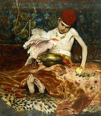 American Food Painting - The Turkish Page Unexpected Intrusion by William Merritt Chase