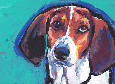 Coonhound Painting - The Tw Coonhound by Lea S