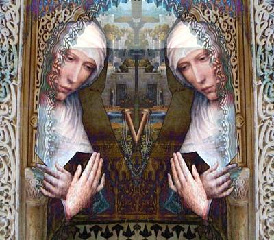 Christian Art . Devotional Art Photograph - the two Marys at the Alhambra by Candee Lucas