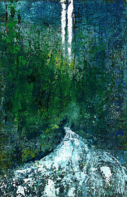 Acclaim Painting - The Undiscovered Waterfall by David  Seacord