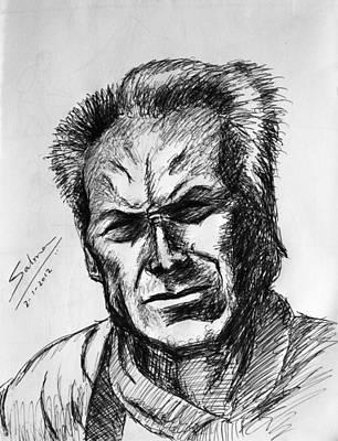 Clint Eastwood Print by Salman Ravish