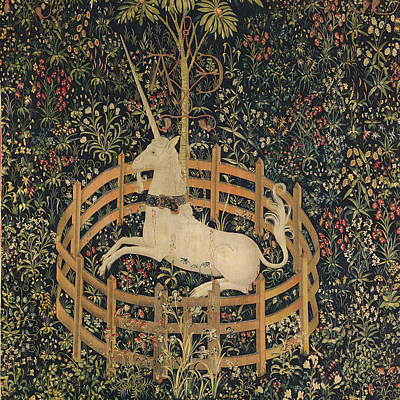 The Unicorn Captured Print by Unknown