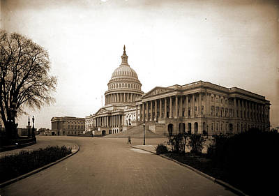 Washington D.c Drawing - The United States Capitol From Northeast by Litz Collection