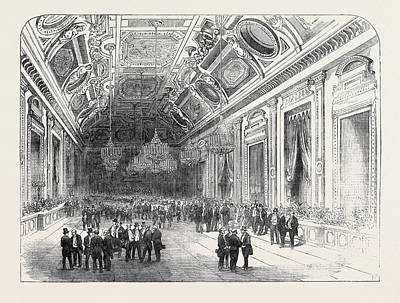 Louvre Drawing - The Universal Exhibition Fete, At The Hotel Du Louvre by English School