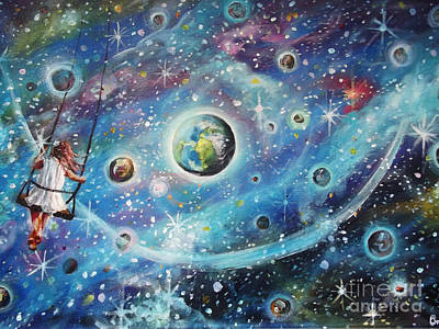 Intergalactic Painting - The Universe Is My Playground by Dariusz Orszulik