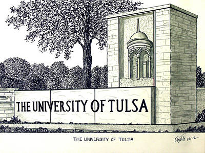 The University Of Tulsa Print by Frederic Kohli