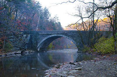 The Valley Green Bridge In Fairmount Park Print by Bill Cannon