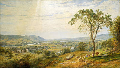Wyoming Painting - The Valley Of Wyoming by Jasper Francis Cropsey