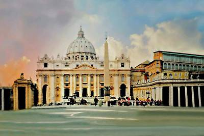 Papacy Photograph - The Vatican Rome by Diana Angstadt