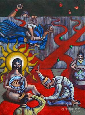 The Veneration Of Counterfeit Gods Print by Paul Hilario
