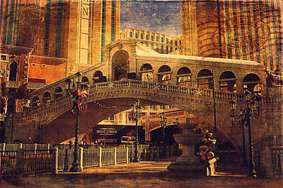Building Exterior Digital Art - The Venetian  by Maria Angelica Maira
