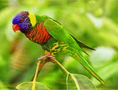 Parakeet Digital Art - The Very Best Of Me by Georgiana Romanovna
