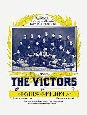 University Of Michigan Painting - The Victors University Of Michigan Fight Song by Big 88 Artworks