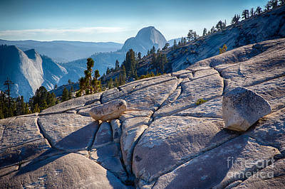 Half Dome Photograph - The View From Olmstead Point In Yosemite by Mimi Ditchie