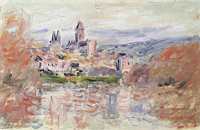 Loose Painting - The Village Of Vetheuil by Claude Monet