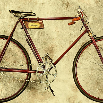 The Vintage Racing Bike Print by Martin Bergsma