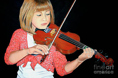 The Violinist Print by A Wells Artworks