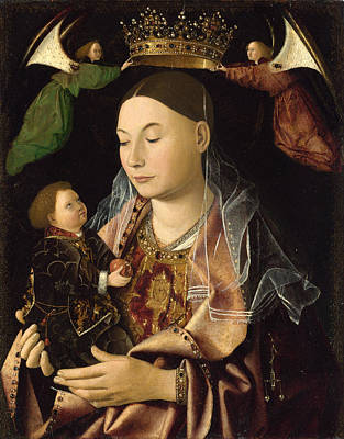 Antonello Da Messina Painting - The Virgin And Child by Antonello da Messina