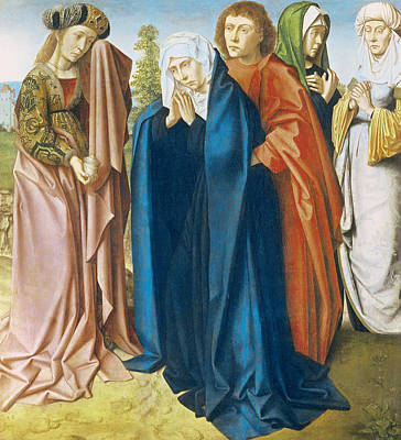 St Mary Magdalene Painting - The Virgin Mary With St John The Evangelist And The Holy Women by Gerard David