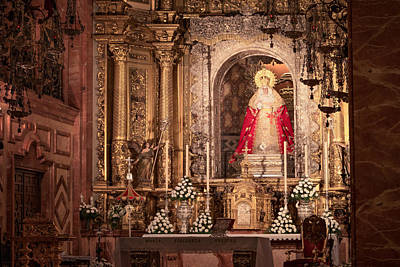 Painted Details Photograph - The Virgin Of Hope by Joan Carroll