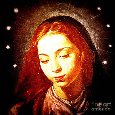 Mother Mary Digital Art - The Virgin Of The Immaculate Conception by Patricia Januszkiewicz