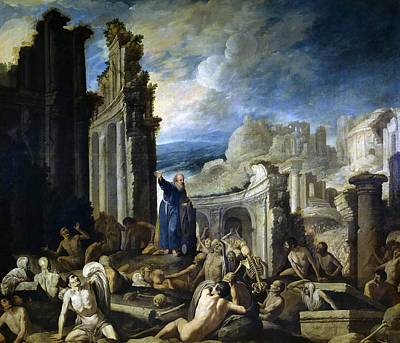 Vision Painting - The Vision Of Ezekiel. Resurrection Of The Dead by Francisco Collantes